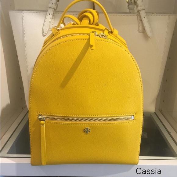 Tory Burch Handbags - Tory Burch Emerson Cassia Leather Backpack
